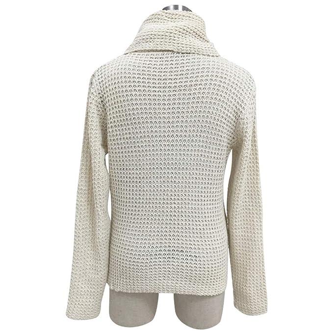 LANSKIRT_Ropa de mujer Manga Larga Ocio Suelto Suéter Cárdigan de Punto Irregular Sólido Sudadera Pullover Tops Blusa Camisa: Amazon.es: Ropa y accesorios