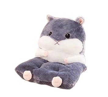 Amazonde Shi Xiaoshu Cartoon Hamster Stuhl Kissen Rückenpolster Grau
