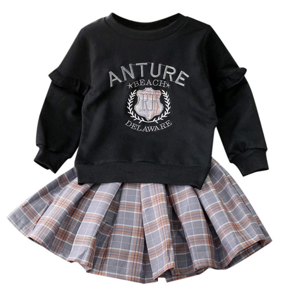 Vestito da Principessa Fiore Ragazza Abito Maxi Pizzo Manica Lunga Floreale Gonna Tutu per Festa Cerimonia Carnevale Battesimo per Bambine 3-12 Anni