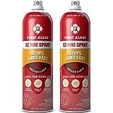 First Alert Fire Extinguisher | EZ Fire Spray Fire Extinguishing Aerosol Spray, Pack of 2, AF400-2