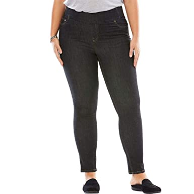 a58c71865f9 Woman Within Plus Size Smooth Waist Skinny Jean at Amazon Women s ...