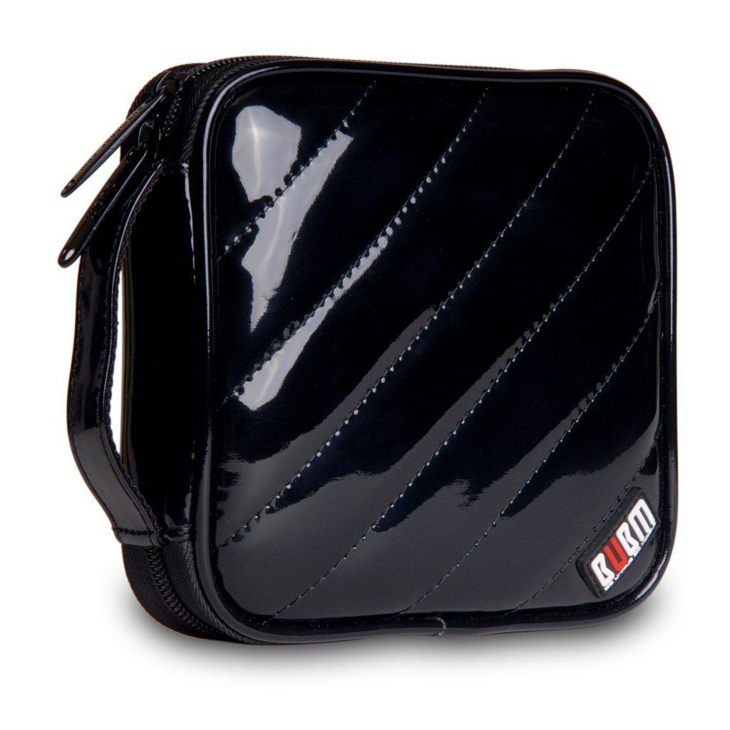 BUBM PU Smooth Leather Cover 32 Disc Case CD DVD Wallet Storage Organizer Travel Bag (Black) by BUBM (Image #1)