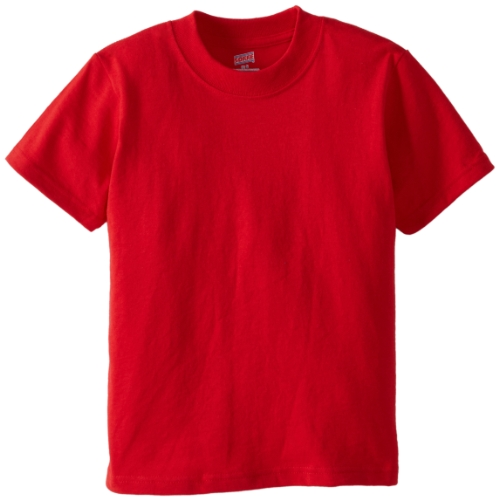 Soffe Big Boys' Mid Weight Tee, Red, - 16 Ribbon Cotton