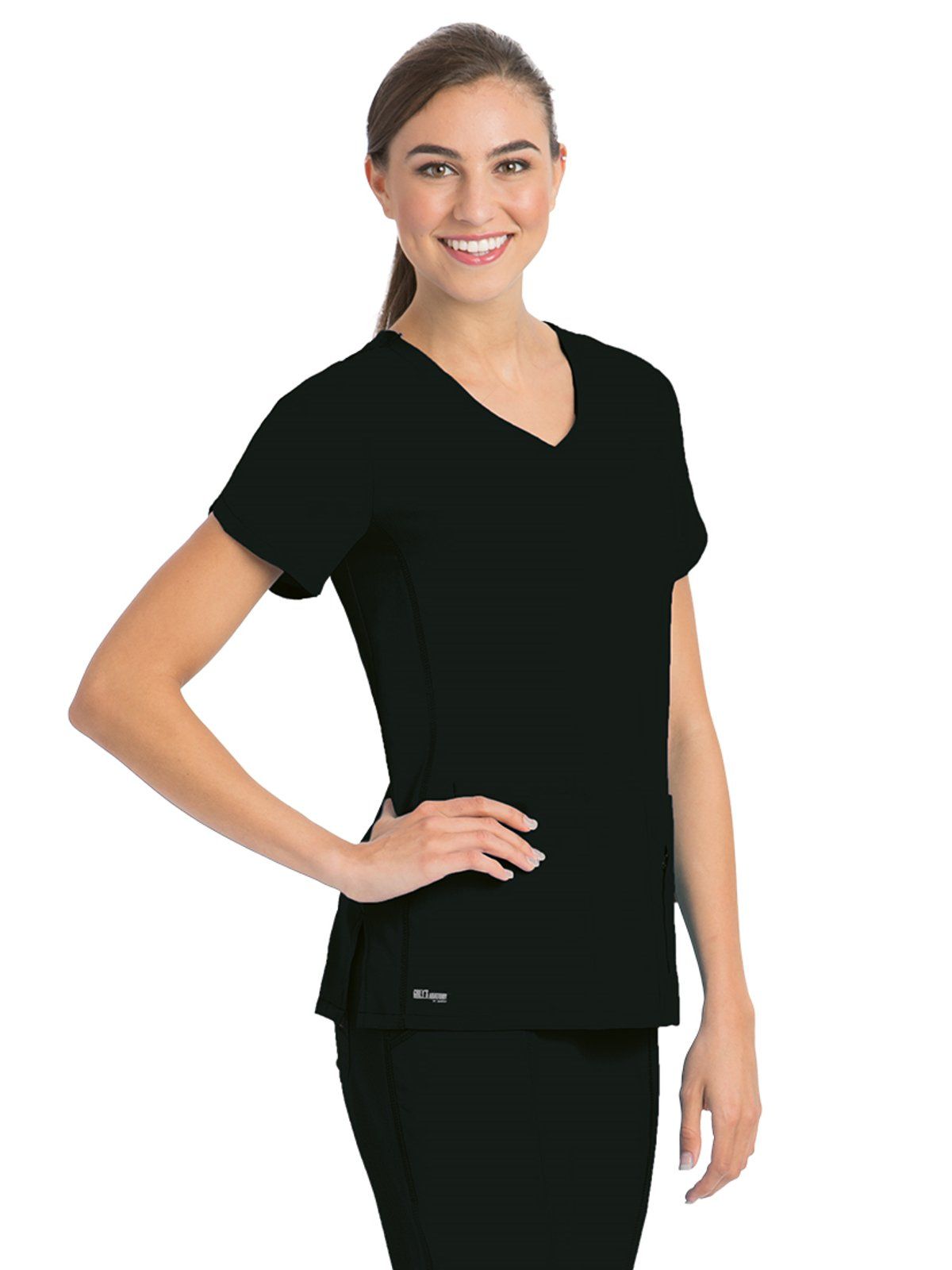 Grey's Anatomy Active 41423 Top Black L