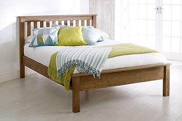 Amazon.de: Happy Beds Malvern-niedrigem Fußteil Holz Bett Eiche ...