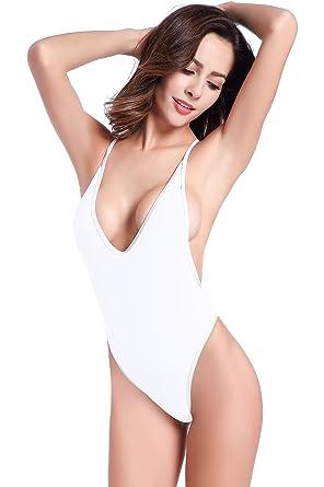 SHEKINI Mujeres Tanga Bañador Trajes de una Pieza Brasileño Bikini Traje de baño