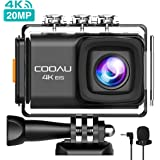 [Updated Version] COOAU 4K 20MP WiFi Action Camera HD Sports Camera 170° Wide-Angle Lens 98ft Underwater Camera, EIS Sony Sensor, External Mic, Travel Bag Includes Mounting Accessories And 2 Batteries