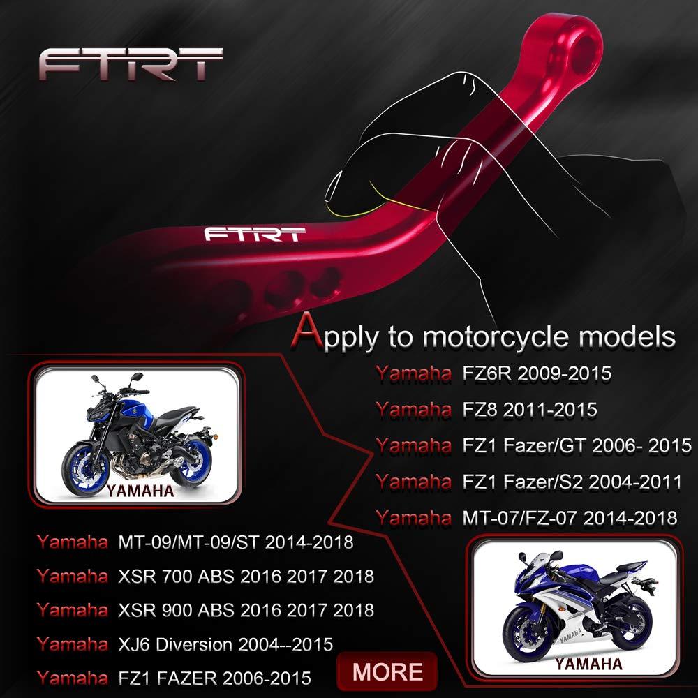 FTRT Short Brake Clutch Levers for Yamaha MT-07//FZ-07 2014-2018 FZ6R 2009-2015 FZ1 FAZER 2006-2015,XSR 700//900 2016-2018 Red MT-09//FZ-09 2014-2018