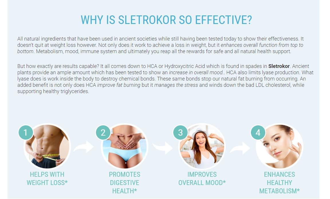 Sletrokor Diet Pills - 3 Bottles - Extra Slim Formula - Metabolism Booster - Made in USA by Sletrokor Diet Pills (Image #2)