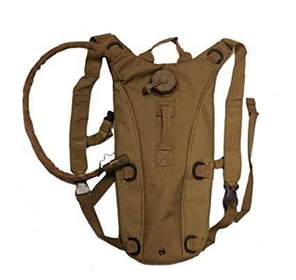 Ultimate Arms Gear Tactical Coyote Tan Hydration Pack Backpack Carrier With 2.5 Liter / 84 oz