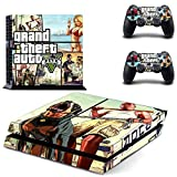 Gta Shark Card Best Deals - MightySticker® PS4 Designer Skin Game Console + 2 Controller Decal Vinyl Protective Covers Stickers for Sony PlayStation 4 - GTA V Grand Theft Auto 5 SA Liberty City Criminal Ganster Squad