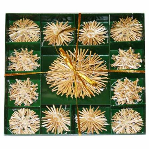 (Straw Star Ornament Boxed Set - 52 pc)
