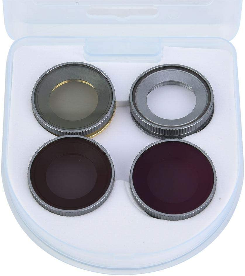4Pcs Filter Set,Portable Ultra-Thin Mini Optical Glass UV+CPL+ND4+ND8 Waterproof Lens Filter Kit Photography Accessory for DJI Osmo Action Sports Camera