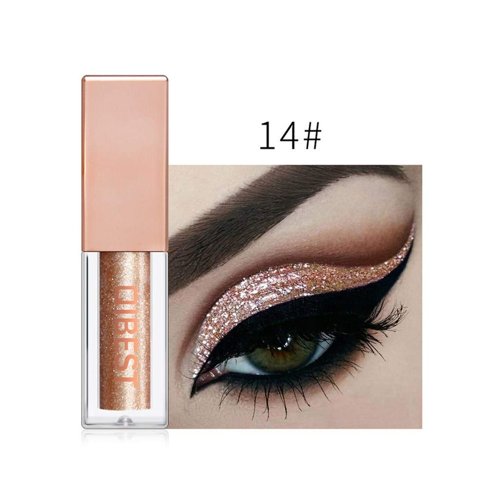 ❤️ Sunbona ❤️ Clearance Sale QIBEST Metallic Shiny Smoky Eye Eyeshadow Waterproof Glitter Liquid Eyeliner 15 Color (N)