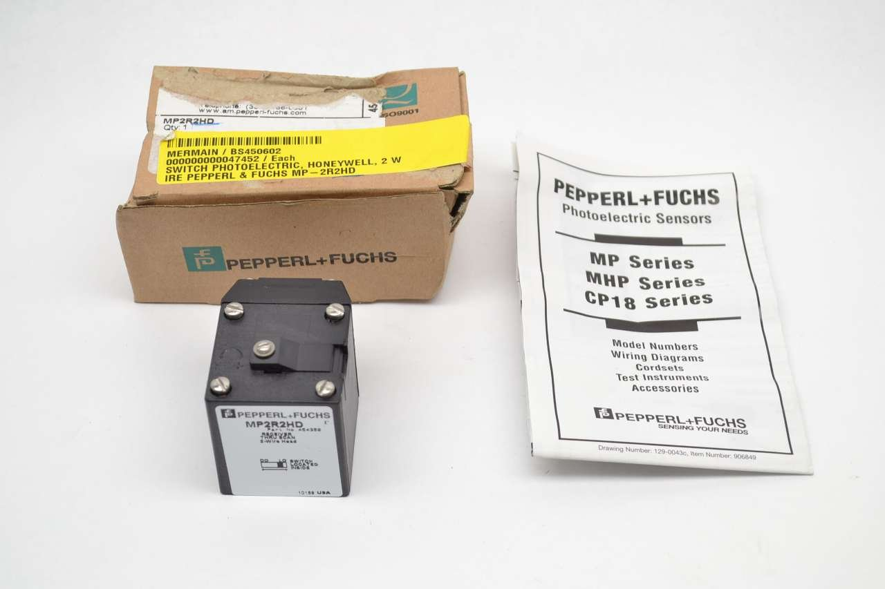 PEPPERL FUCHS MP2R2HD 2-WIRE HEAD RECEIVER PHOTOELECTRIC SWITCH SENSOR  B413087: Amazon.com: Industrial & Scientific