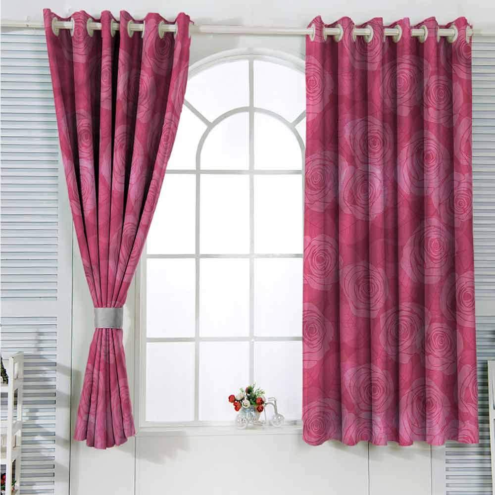 Amazon.com: Rose Grommet Creative Blackout Curtains Shades ...