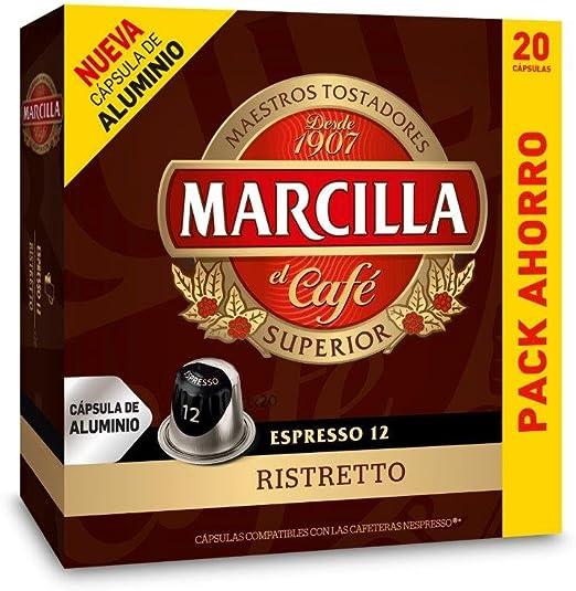Capsulas Compatibles Nespresso®* Marcilla Ristretto 20 Unidades ...