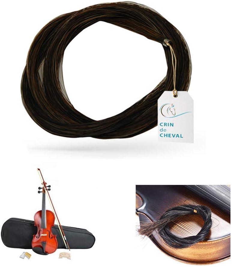Crin De Caballo - Uno madeja pelo de caballo para violín arco u otro uso - Calidad AAA - Procedencia Mongolia - 10 gramos - 81-82 cm - Blanco