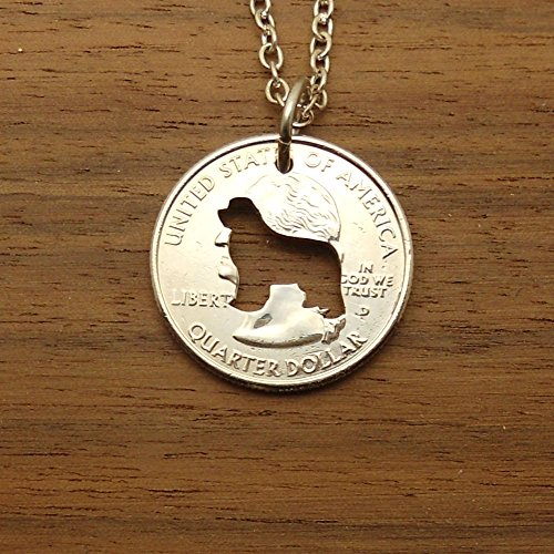 Newfoundland Necklace Jewelry or Keychain Cut In A Quarter Coin