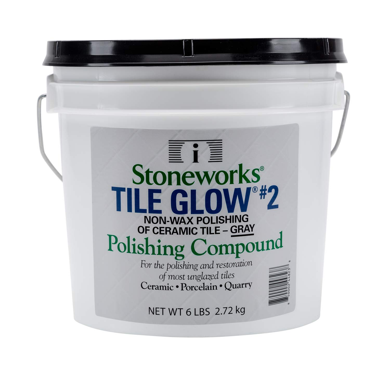 Tile Glow #2 Gray (6 Lb) Natural, Non-Wax Compound for The polishing of Most unglazed Ceramic, Porcelain and Quarry Tiles, which Gives a Long Lasting Finish and Natural Shine to Tiles