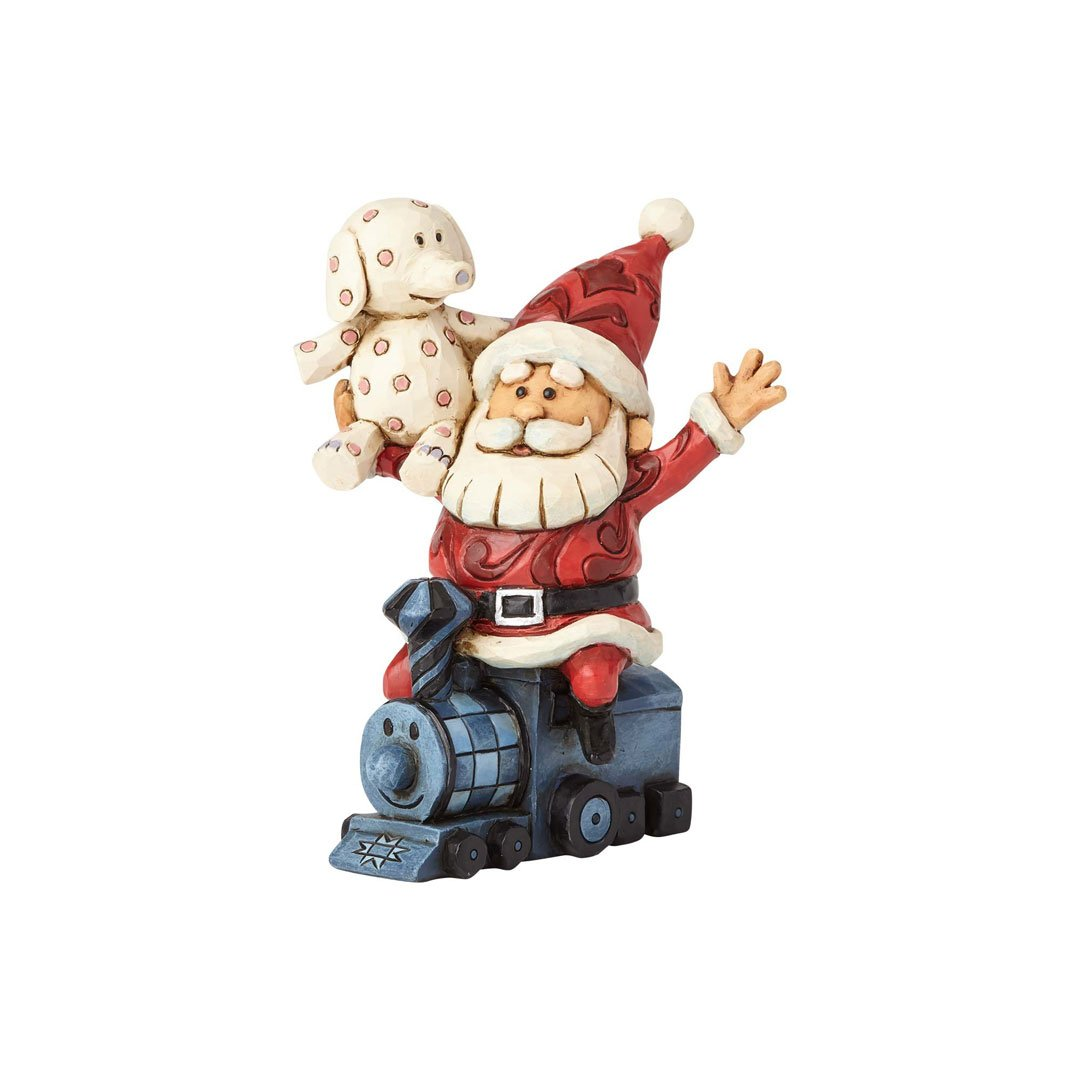 Enesco Rudolph Traditions by Jim Shore Santa with Misfits Figurine 4.25 in