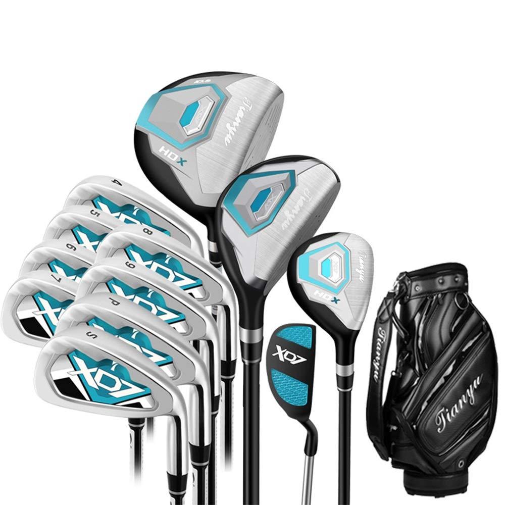 DorisAAレディースゴルフ初心者12ピースゴルフクラブセットピンクゴルフパターゴルフ練習クラブセット手袋を持つ女性用(色:単色、サイズ:A1)