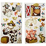 """Beistle 52108 Printed Farm Animal Props, 2.25"""" to 35"""", 23 Pieces In Package"""