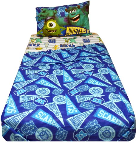 Disney Pixar Monsters University Sheet Set, Twin (Monster University Bed Set)