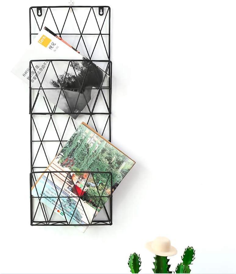 10x4x15inch Draht Zeitungsst/änder,Mehrzweck H/ängen Organizer-datei Dokuments Lagerung-halter,Wandhalterung Zeitschriftensammler F/ür Office Dekor-a 25x10x38cm Wand Zeitungshalter,Magazinst/änder