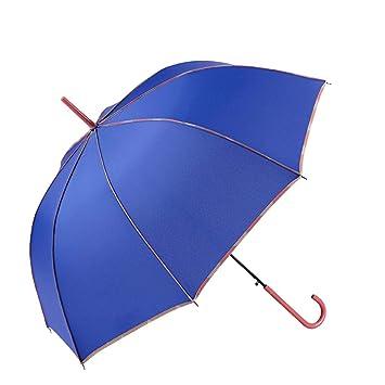 GOTTA Paraguas Largo de Mujer. Antiviento y automático, con Forma cúpula. Vivo Estampado y Tejido Liso - Azul: Amazon.es: Equipaje