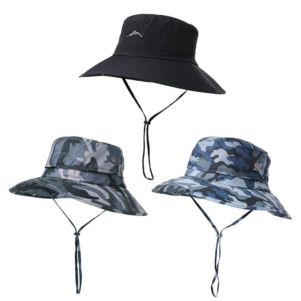 Fancet UPF50 Chapeau de Protection pour Homme Protection Contre Le Soleil Safari pour la p/êche Bonnie Bush pour Femme 56-60 cm