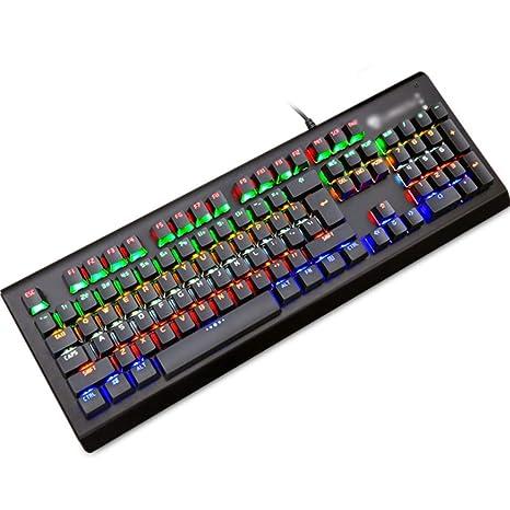 Teclado Gaming mecanico Gaming Mechanical Esports Keyboard, Teclado de Juego con Cable USB retroiluminado LED