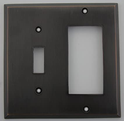 Oil Rubbed Bronze 1 Toggle 1 Gfirocker Switch Plate Switch And