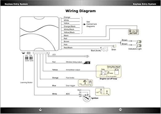 Auto Watch Immobiliser Wiring Diagram