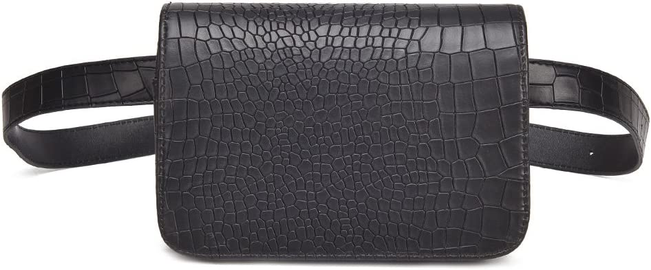 Dabixx - Bolso de piel sintética para mujer, diseño de cocodrilo, color rosa y rojo, color negro, tamaño 13x17x6cm