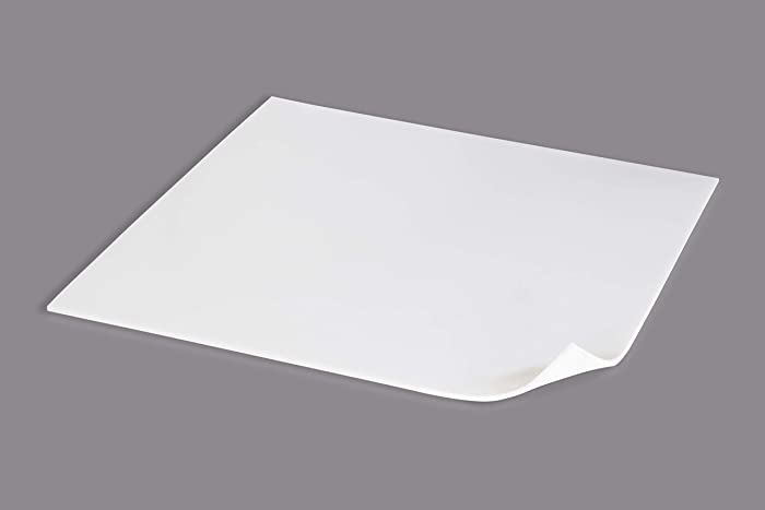 Food Grade Silicone Rubber Sheet 12x12-inch by 1/8 White - Duro Shore A65 High Temperature Heavy Duty for Gaskets DIY Food Covers Lids Sealing Material Supports Microwave Oven Protection