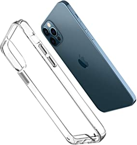 AlexaCoverTechnology Case for iPhone 12 Pro Max [6.7 inch] [Doesn't Turn Yellow] Shockproof Case [Military Grade 5.0 Fall Test] [Accept Wireless Charging] [Camera Protection] - Clear