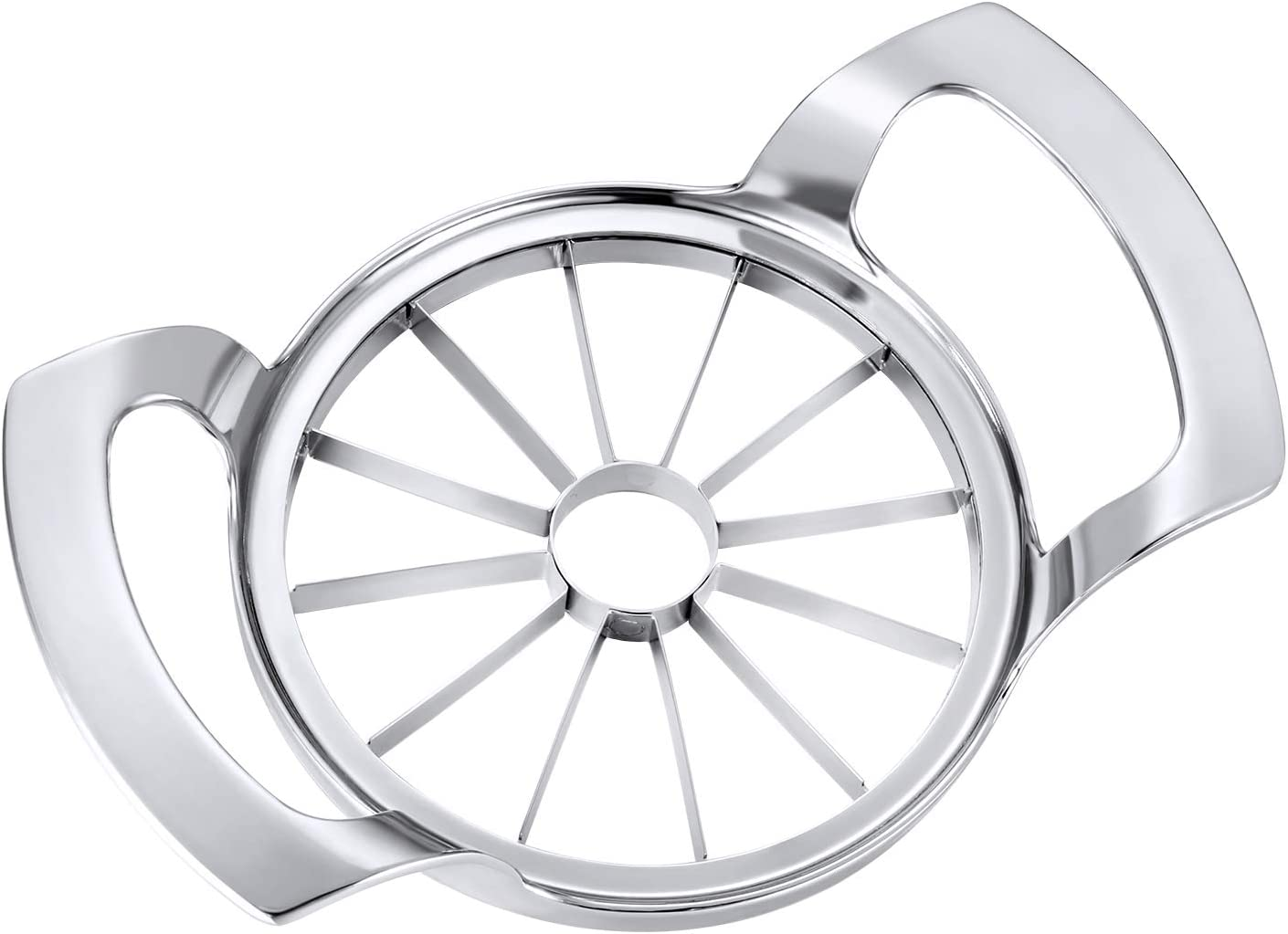 [Upgraded 2020] JOYIT Apple Slicer 12-Blade, Ultra-Sharp Stainless Steel Apple Cutter, Sturdy Large Apple Corer, Easy Grip Divider for Up to 4 Inches Apples Pears Potato Onion (12-Blade)