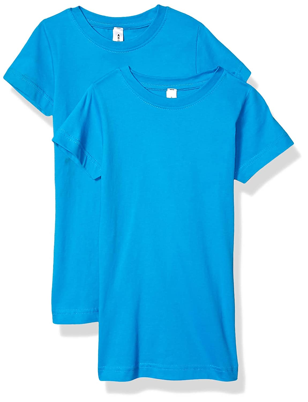 AquaGuard Boys Big Heavyweight Combed Ringspun Cotton T-Shirt-2 Pack