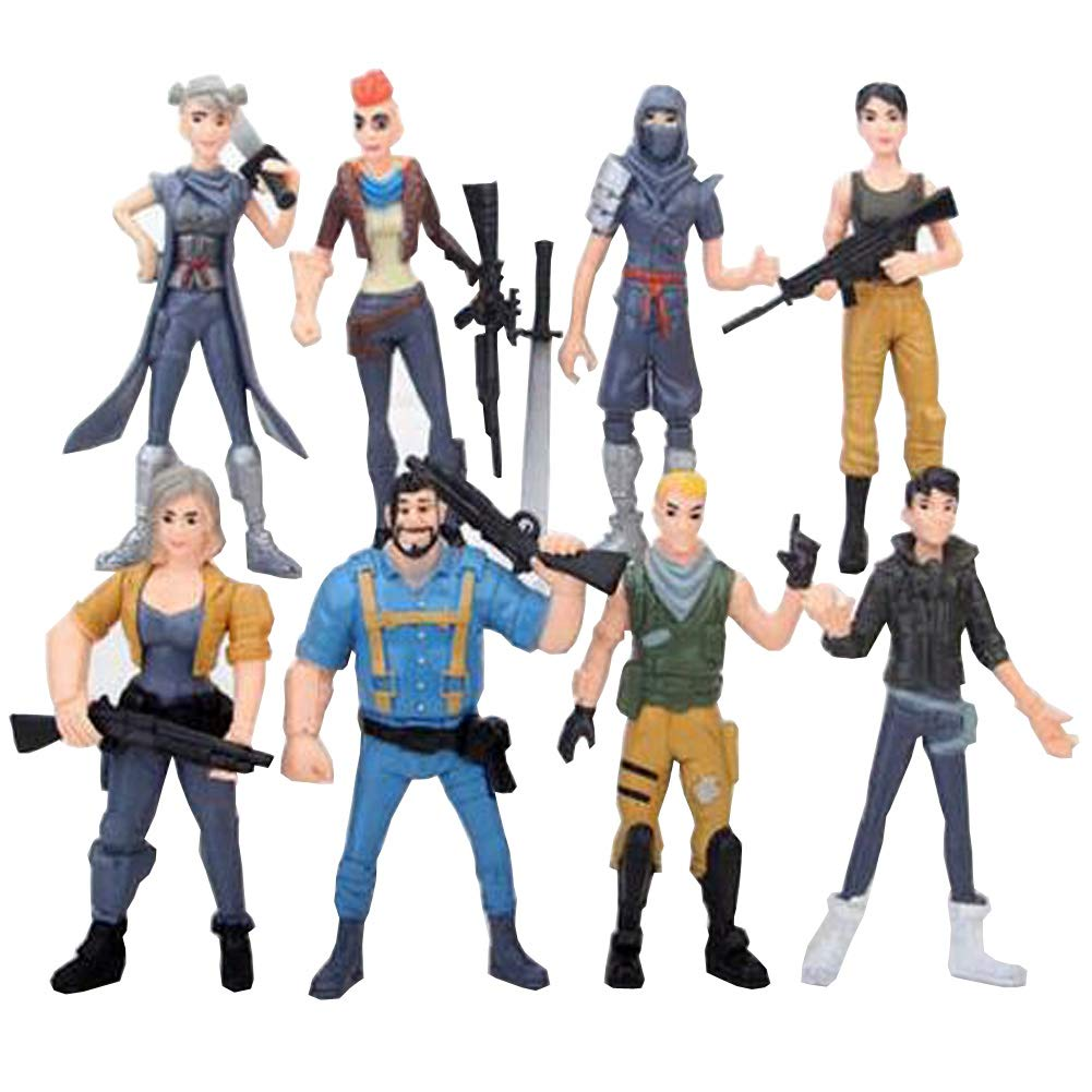 8pcs Fortnite Skull Trooper Outlander Commando Ninja Action Figure Toy Gift LULEZONTOY