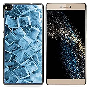 For HUAWEI P8 - Ice Cube Crystals Snow Winter Pattern Cool /Modelo de la piel protectora de la cubierta del caso/ - Super Marley Shop -