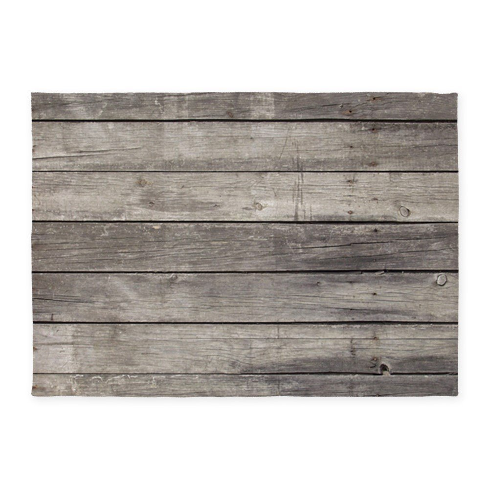 CafePress - Old Wood Planks - Decorative Area Rug, 5'x7' Throw Rug by CafePress (Image #1)