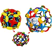 Akhand Colourful Size Changing Throw and Catch Ball for Kids (Set of 2)
