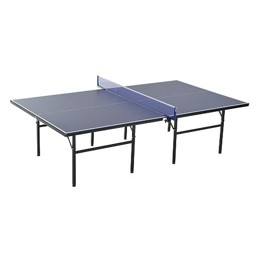 Mesa de tenis plegable de Homcom, conjunto de ping pong con red y ...