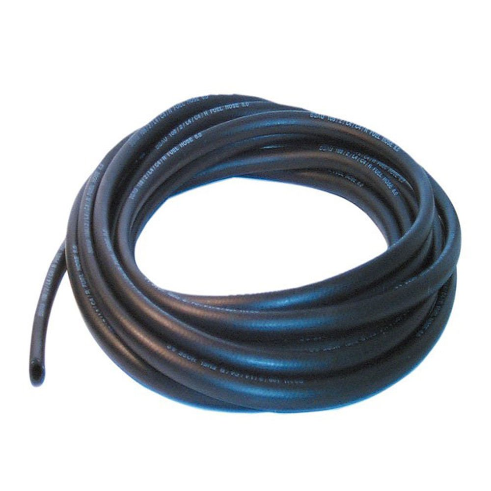 10mm ID Black 2 Metre Length Fuel and Oil Resistant Rubber Hose AutoSilicon.