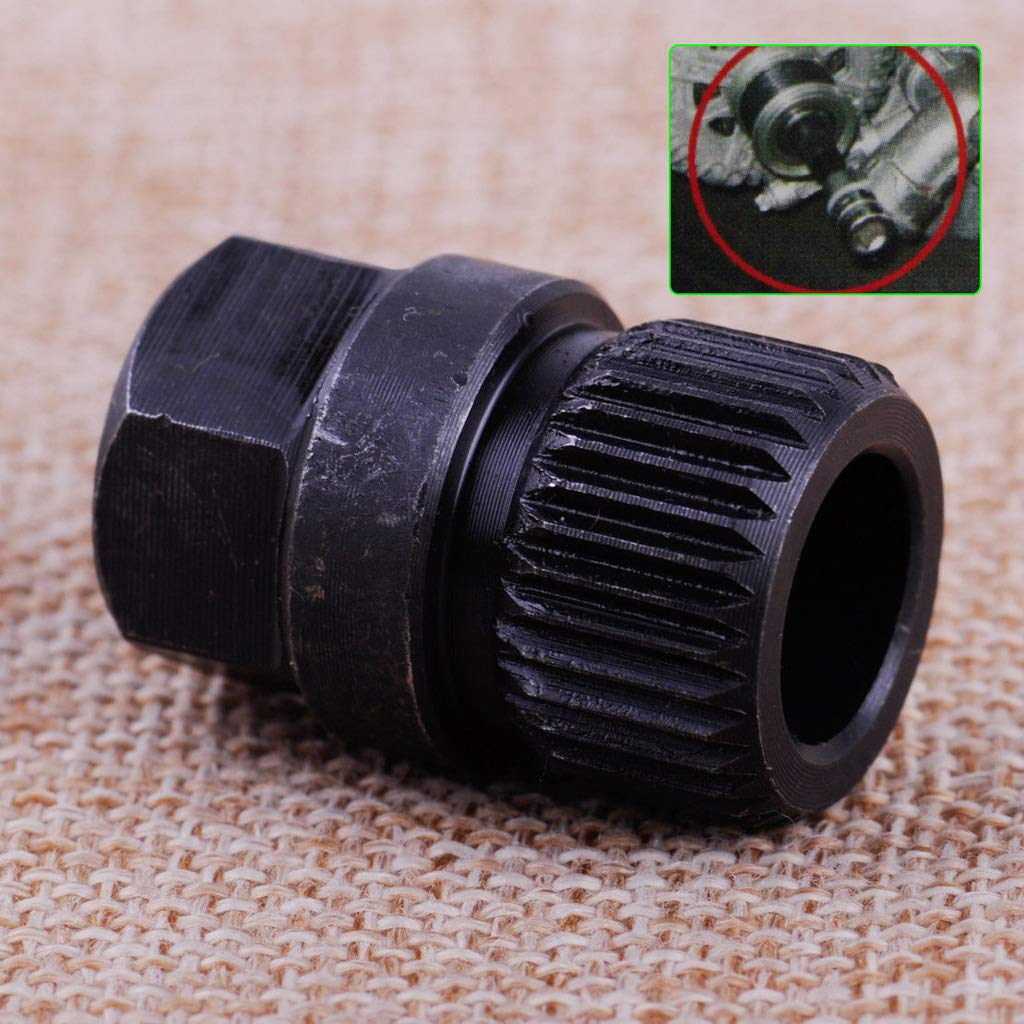 MagiDeal Free Wheeling Pulley Alternator Center Bolt Remover Socket for VW Audi