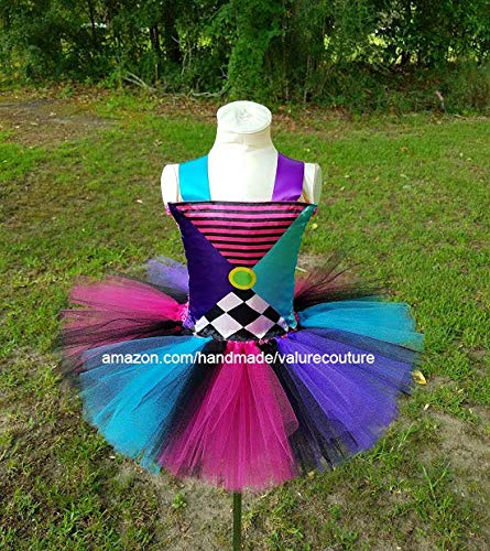 Mad Hatter Inspired Tutu Dress Costume Pageant Birthday