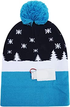 3be7185e5c43b Ugly LED Christmas Hat Novelty Colorful Light-up Stylish Knitted Sweater  Xmas Party Beanie Cap. W-plus Ugly LED Christmas Hat Novelty Colorful Light- up ...