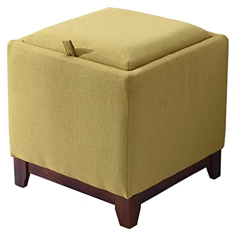 Tremendous Ntbst Ottoman With Storage And Tray Linen Fabric Wooden Ncnpc Chair Design For Home Ncnpcorg