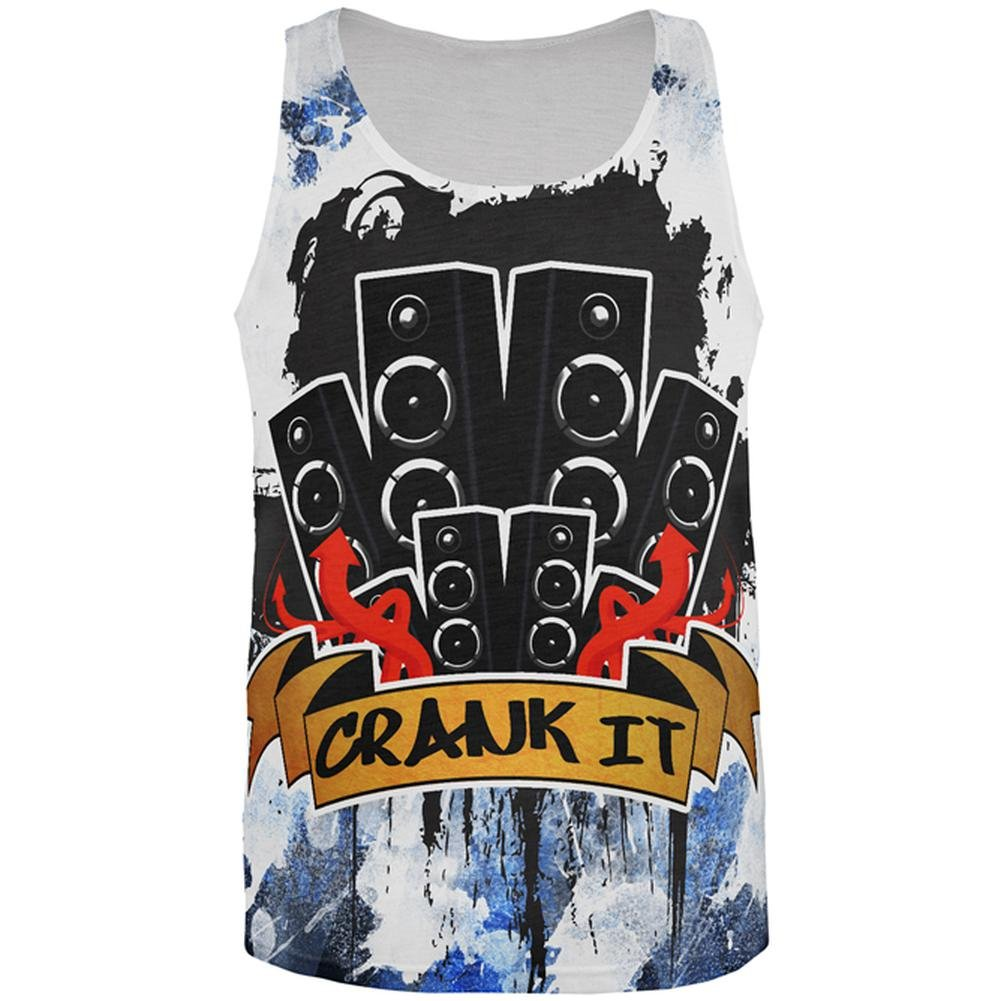 DJ Crank it to Eleven 11 Super Bass Speakers All Over Mens Tank Top